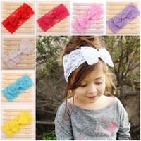 Wholesale Headband Accessories For Babies - Children Hair Accessories Kids Headbands For Girls Baby Headbands 2015 Bow Lace Headband Baby Hair Accessories Hair Bands Hair Things C7149