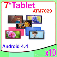 Wholesale Blue Action Bluetooth - 7 inch Android 4.4 Tablet PC Quad Core with HDMI Actions ATM-7031 Dual Camera 10pcs ZY-MID-17