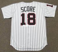 Economici Custom HERB SCORE Chicago White Sox 1960 Majestic Cooperstown Home Baseball Jersey Retro Mens maglie