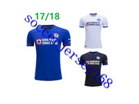 7ddc0f4b595 Soccer Men Short 2017 2018 Liga MX Cruz Azul Home Away Third Soccer Jerseys  17 18