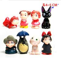 Wholesale Ponyo Figure Pvc - Job Set  Miyazaki Hayao Figure My Neighbor Totoro PONYO Spirited Away 8 pcs