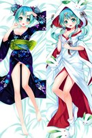 Wholesale Vocaloid Pillow Case - Wholesale-Anime Vocaloid Snow Hatsune Miku Pillow Case Cover Dakimakura Hugging Body Y060