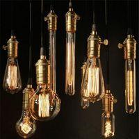 Wholesale carbon lamp - Edison Light Bulb Chandelier Bulb Edison Antique Bulb Aka Carbon Filament Lamp Silk Bulb Lamp Antique Lamp Light Incandescent Bulbs