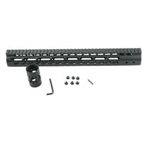 Wholesale Ar Rail Systems - Black Float NSR 15 Inch Handguard One-piece Top Rail System KeyMod High Quality Lightest For AR-15 M4 M16