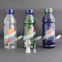 tubo de garrafa de coque venda por atacado-Venda quente colorido de vidro Bongo equipamento de óleo de vidro tubo de água da coca garrafa rig com cúpula e unha 14mm conjunta