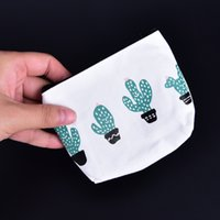 Atacado- Cute Cactus Zipper Canvas Student MINI COIN Key Zero Wallet Card Bag Mulheres Student Gift Wholesale