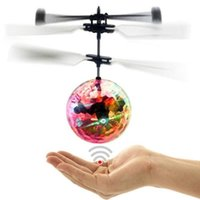 Wholesale Toy Helicopters For Kids - RC Flying Ball Drone Helicopter Ball Built-in Shinning LED Lighting For Kids Toy Xmas Gift YYA778
