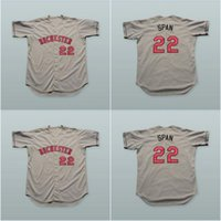 Wholesale Span Men - 22 Denard Span Rochester Red Wings Gray Baseball Jersey Any Player or Number Stitch Sewn High Quality Free Shipping Throwback Jerseys