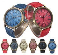 Wholesale Retro Design Watch - 2016 Fashion men women cowboy leather watch retro roma design Luxury Classic Vintage Quartz Dress Casual Watches for women men