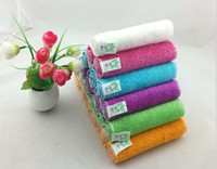 Wholesale Dish Towels Wholesale - high efficient ANTI-GREASY color dish cloth bamboo fiber washing dish towel magic Kitchen cleaning cloth wipping rags