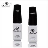 basis deckschicht uv großhandel-Nicht-reinigender Untergrund und Decklack für UV-Gelpoliermittel Decklack Nagellack Foundation Nails Glue