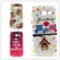 Wholesale Galaxy Trend Gel - Wholesale 2pcs Cartoon Style Soft TPU Gel Case For Samsung Galaxy Trend Lite S7390 Back Skin Phone Bag Case Free shipping