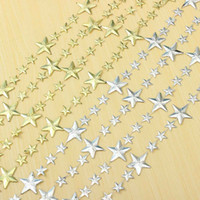 Wholesale Angle Ornaments - Wholesale-About 300cm Xmas Star Chain Decoration Garden Party Home Supplies Christmas Tree Ornament Five-Angle Stars Happy New Year Link