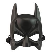 maskeli çocuklar maskeli toptan satış-Cadılar bayramı Koyu Şövalye Yetişkin Masquerade Parti Batman Yarasa Adam Maske Kostüm Bir yetişkin çoğu yetişkin ve çocuk için uygun