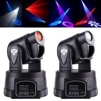 Wholesale Led Spot Club Lights - Mini LED Moving Head Light Spot RGB Stage Lighting Party Dj Disco Club 15W RGB Multicolor Change DMX Controller Spot Wash Light DHL