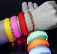100cs / lot Livraison gratuite Nylon Led Bracelet Bracelet Courant Running Cyclisme Réfléchissant Glow Belt Light Sports de plein air