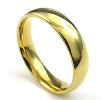 Wholesale Tungsten Rings Wholesalers Usa - Wholesale-Classic tungsten carbide ring 6mm 18k gold wedding lovers rings for men women high quality USA size 6-14