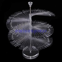 Wholesale Large Clear Nail Polish - 120pcs Stick Clear Large Display Stand Spiral Display Shelf Practice Nail Art For Solon Nails Polish Gel Show