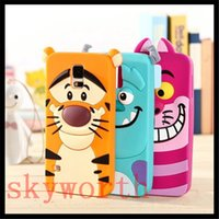 Wholesale Galaxy Duos Cases - 3D Cartoon Monsters Sulley Tigger Silicone Case For iphone 7 5S 6 6s plus Samsung Galaxy S6 Edge A3 A5 A7 Duos Core