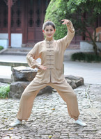 tai chi se adapta a las mujeres al por mayor-Shanghai Story 2019 Traje de Kung Fu Chino para Mujeres Ropa de Tai Chi 100% Algodón Arte Uniforme taiji wushu kung fu taiji ropa 2527
