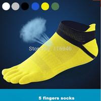 Wholesale Cheap High Fashion For Men - Free shipping!2016 High Quality Cheap 100% Cotton toe socks Men's Five fingers Ventilate Mesh toe sport socks for men brand fashion