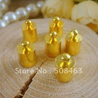 La nave libera! 500pcs oro tono 7x11mm Bead Caps materiali 7x11mm ottone collana Fine Tip Bead Caps