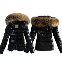 women s long parka UK - 2017 Winter Women Warm Down Coat Parka Puffer Bubble Fur Collar Hooded Quilted Jacket 2 Colors Plus Size 5XL
