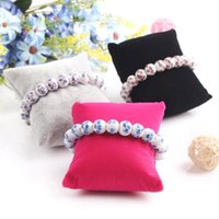 Wholesale 8CM CM CM Velvet pillow Jewelry Watch Display Holder Jewelry Bracelets Bangle displays stand Jewelry Packaging Colors