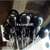 Frete Grátis100pc / Lot 10 'Inch1.5g Black Latex Balloons Birthday Party Decorações Kids Balloons Party Decoration