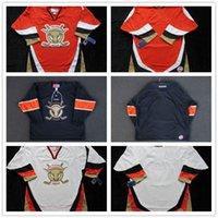 Wholesale Full Bull - New ECHL San Francisco Bulls Mens Womens Kids Custom Any name Any NO. Best quality Cheap Black Red White Hockey Jerseys Goalit Cut