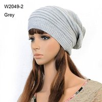 Wholesale Cool Mens Winter Hats - Wholesale-Retail Winter Mens Knit Caps Women Knitted Slouch Beanie Cap Slouchy Oversized Beanies For Men Womens Crochet Hats Cool Skullcap