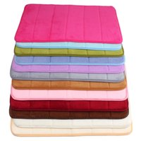 Wholesale Memory Foam Top - Wholesale-2015 Top Selling High Quality 40x60cm Bath Mat Bathroom Bedroom Non-slip Mats Memory Foam Rug Shower Carpet for Bathroom Kitchen