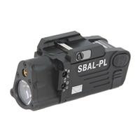 cnc освещение оптовых-Тактический CNC делая SBAL-PL белый свет LED пистолет свет с красным лазерный пистолет / винтовка фонарик черный