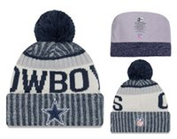 Wholesale Plain Football Tops - TOP Quality! 2017 Winter caps football Skateboards beanie hat all baseball team winter beanies Embroidered casual Skull beanies