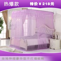 Wholesale Three Door Royal Mosquito Nets - Wholesale-Three door French encryption mosquito retractable mount princess royal thickening stainless steel tube mosquito net yami