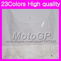 Wholesale 1992 zx11 black - 23Colors Windscreen For KAWASAKI NINJA ZX11R 90 91 92 ZX-11R ZX11 R ZZR1100 1990 1991 1992 Chrome Black GPear Smoke Windshield