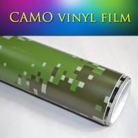 Wholesale Camo Vinyl Wholesale - 1.52*30m air bubble free Premium quality Digital Woodland Camo Camouflage Vinyl Film Sticker Wrap Decal Sticker