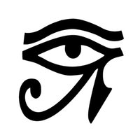 Wholesale Cars Windshield Eyes - Wholesale Car Stickers Eye of Horus Vinyl Sticker Decal Wall Egypt Pagan Wiccan Egyptian Window Car Bumper Van Bike