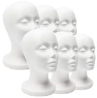Wholesale Styrofoam Wig - Styrofoam Foam Mannequin Model Head White Model Display Tool Wigs Hat Holder Woman 11 INCH Head