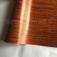 Teak Wood Grain Faux Finish Textured Vinyl Wrap Paper Film DIY Car Interior Covering Laptop skin Size: Vinil auto-adesivo 1.52 * 20M / Roll