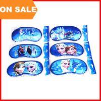 Wholesale Child Sleep Mask - On Sale FROZEN Eyes Mask Sleep masks Anna Elsa Nap Cover Blindfold Children Sleeping Eye Shade Sponge goggles student Vision Care 050005