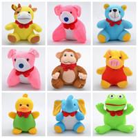 teddybär hundespielzeug großhandel-8 '' Waldtiere Plüschtier Adorable Plushie Spielzeug Geschenke Teddybär Cattle Dog Affe Elefant Huhn Schwein Frosch