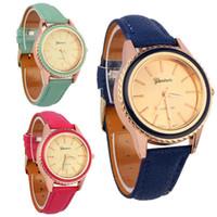 Wholesale Watchs Women - 2015 hot 2014 Fashion Pattern round watch women Casual Luxury Leather party Hour Crystals Quartz Women dress Watchs relogio feminino