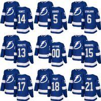 Wholesale Bay 13 - 2017-2018 New season Tampa Bay Lightning 13 Cedric Paquette 6 Anton Stralman 5 Dan Girardi 15 bournival Ice Hockey Jerseys Blue Stitched