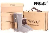 botas de zapatos de cuero de las niñas al por mayor-Calidad WG Mujeres Classicl Boots Mujer niña Nieve Invierno botas zapatos de cuero US SIZE 5--13