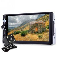 araba sesi toptan satış-7 Inç TFT Araç Ses Stereo Dokunmatik Ekran 2 Din MP5 Çalar Dikiz Kamera Bluetooth V2.0 Eller-Serbest Çağrı ile AUX TF USB