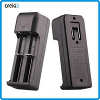 Wholesale Cheap Universal Battery Charger - Double battery charger E Cigarette 18650 18350 Battery Charger Universal Charger for 18650 18350 Battery cheap