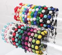 Wholesale Shambala Pave - shamballa shambala bracelets Macrame disco ball pave beads crystal bracelets jewelry armband cheap china fashion jewelry