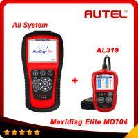 Wholesale Data Stream Reader - Original Autel Maxidiag Elite MD704 With Data Stream Function Europen Vehciles Full System Update Online + AL319 as gift