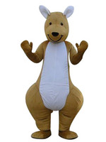 Wholesale Kangaroos Costumes - Wholesale-one Kangaroo mascot costumes 100% real picture adults christmas Halloween Outfit Fancy Dress Suit Free Shipping